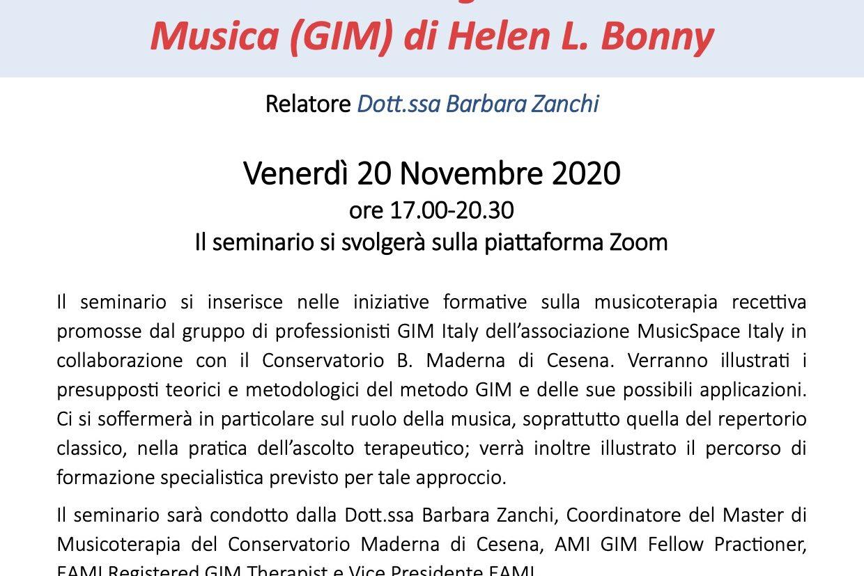 Approcci recettivi in Musicoterapia - Il metodo dell'Immaginario Guidato e Musica (GIM) di Helen L. Bonny