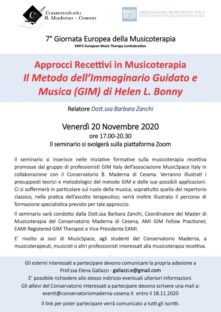 Approcci recettivi in Musicoterapia – Il metodo dell'Immaginario Guidato e Musica (GIM) di Helen L. Bonny