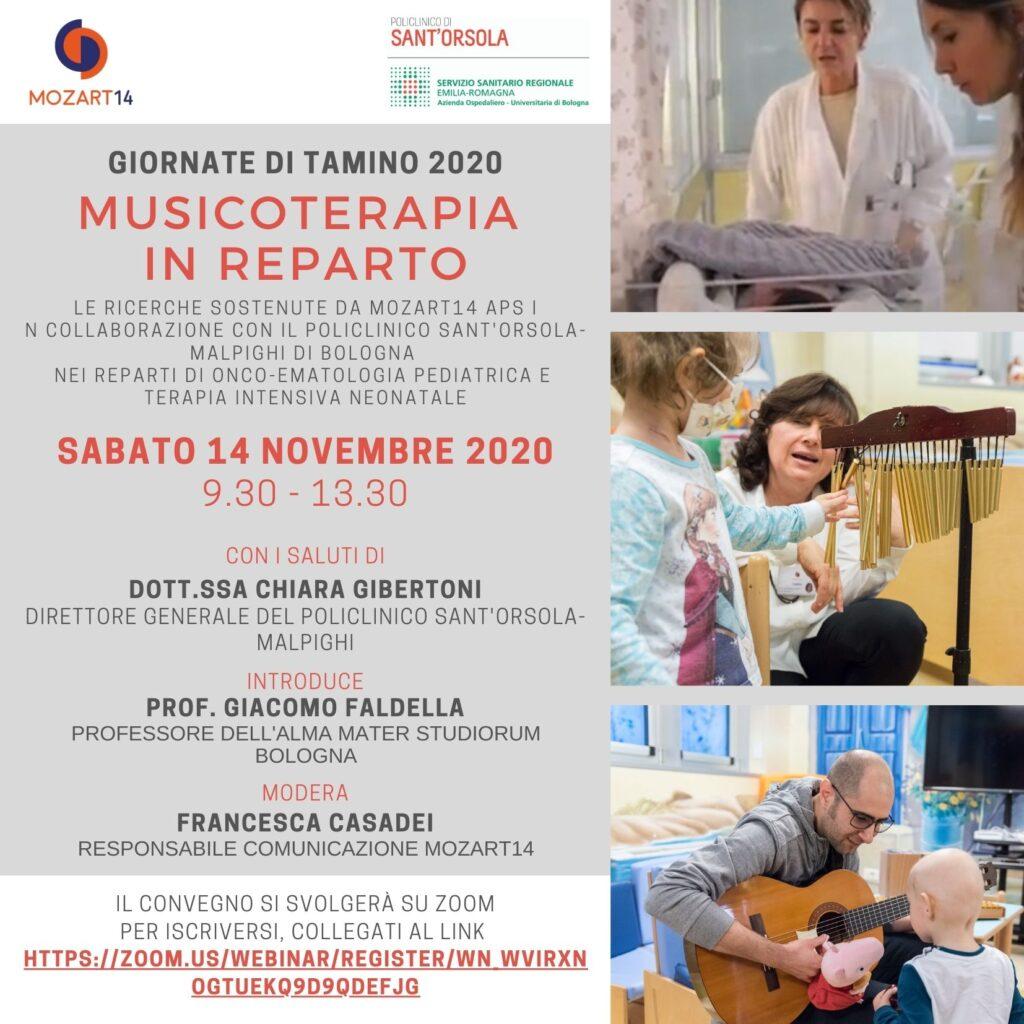 """""""MUSICOTERAPIA IN REPARTO. Le ricerche sostenute da Mozart14 aps in collaborazione con il Policlinico Sant'Orsola-Malpighi nei reparti di Onco-ematologia pediatrica e Terapia Intensiva Neonatale"""""""