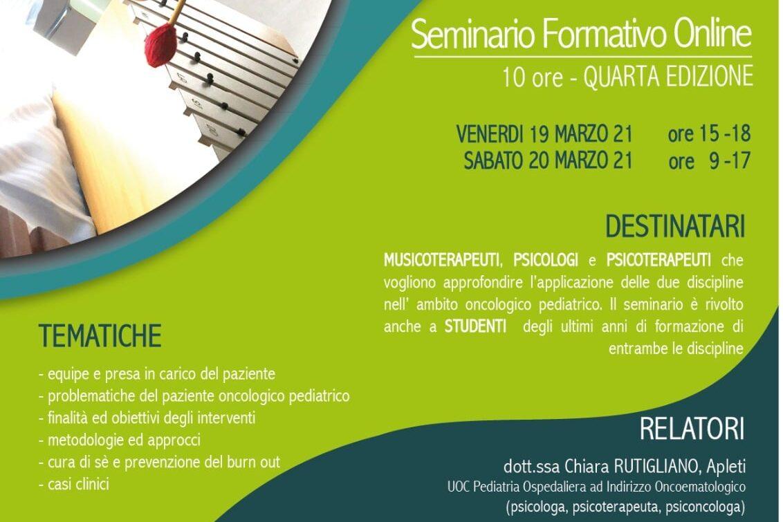 Musicoterapia/Psiconcologia in oncoematologia pediatrica.