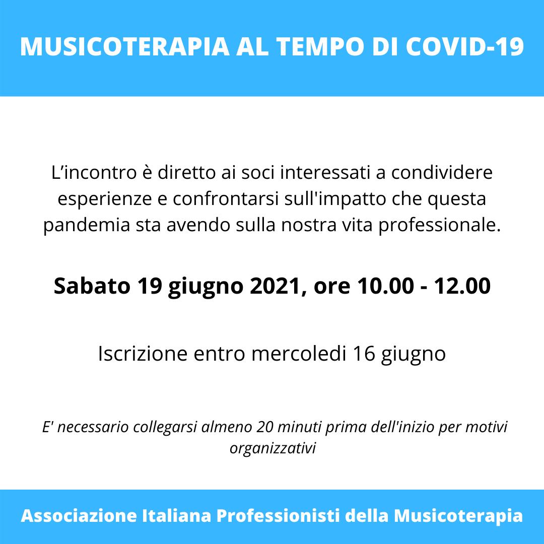 MUSICOTERAPIA AL TEMPO DI COVID-19