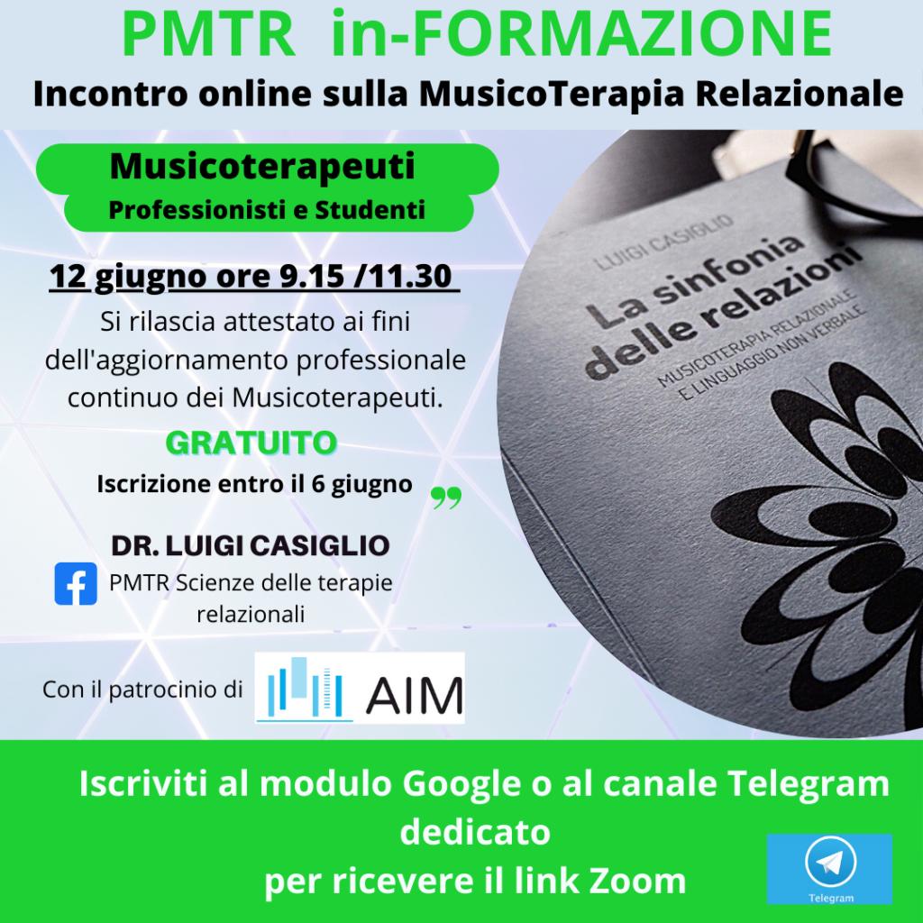 MusicoTerapia Relazionale – PMTR in-FORMAZIONE