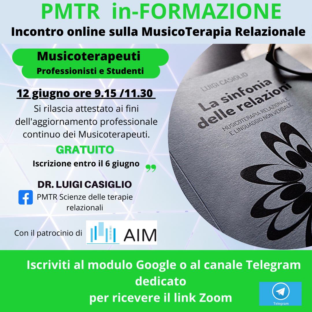 MusicoTerapia Relazionale - PMTR in-FORMAZIONE